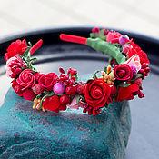 Ободки ручной работы. Ярмарка Мастеров - ручная работа ободок из цветов ручной работы. Handmade.