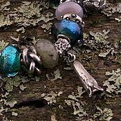 """Украшения ручной работы. Ярмарка Мастеров - ручная работа """"Граммофон"""" серебряная бусина-подвеска для браслетов. Handmade."""