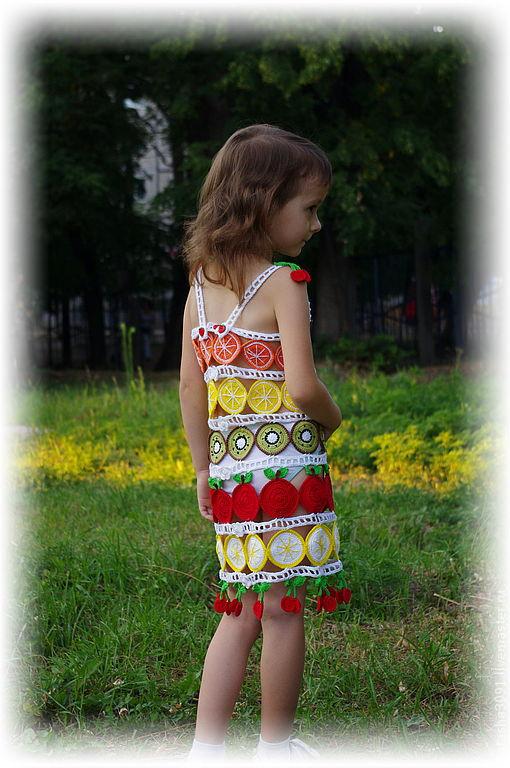 """Одежда для девочек, ручной работы. Ярмарка Мастеров - ручная работа. Купить Сарафан """"Фруктовый микс"""". Handmade. Сарафан, подарок"""