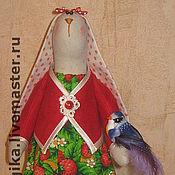 Куклы и игрушки ручной работы. Ярмарка Мастеров - ручная работа Зайка с птичкой. Handmade.