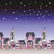 Футер 2-нитка петельный Ночной город