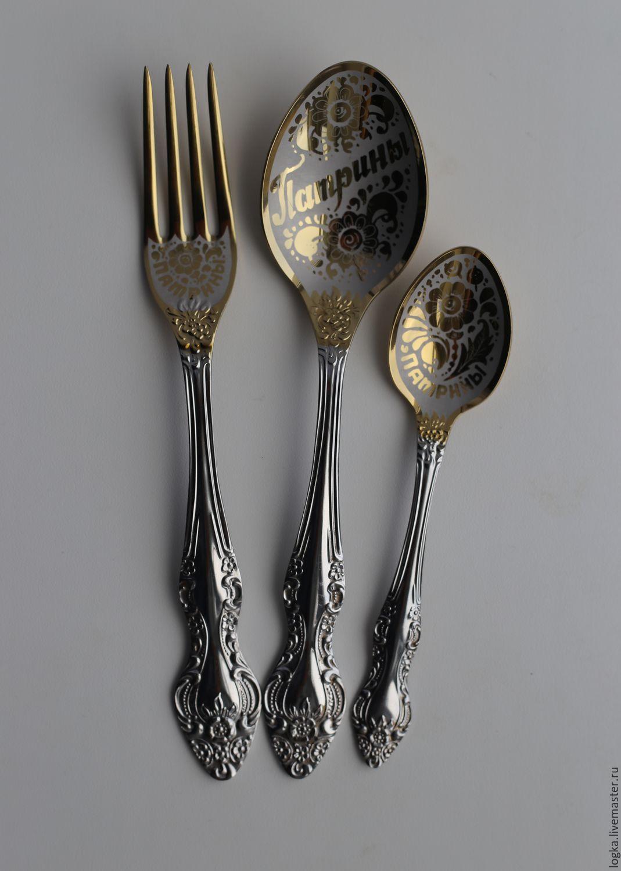 3 subject family set 'Patrini', Spoons, Vyazniki,  Фото №1
