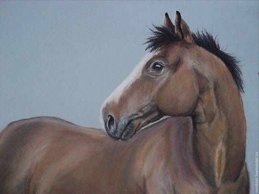 Животные ручной работы. Ярмарка Мастеров - ручная работа. Купить Конь Еремей. Handmade. Коричневый, лошадь, пастельные тона, серый