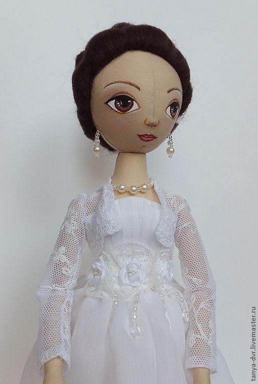 Коллекционные куклы ручной работы. Ярмарка Мастеров - ручная работа. Купить Куколка невеста. Handmade. Белый, хлопок, акриловые краски