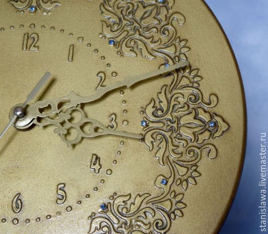 Часы для дома ручной работы. Ярмарка Мастеров - ручная работа. Купить Настенные часы Золотая река времени. Handmade. Золотой