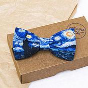 Галстуки ручной работы. Ярмарка Мастеров - ручная работа Звездная ночь, Галстук бабочка Ван Гог, Van Gogh. Handmade.