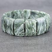 Украшения handmade. Livemaster - original item Seraphinit / a clinochlore bracelets made of stones. Handmade.