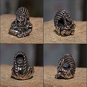 Материалы для творчества handmade. Livemaster - original item Indian chief charm. Handmade.