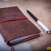 Канцелярские товары handmade. Livemaster - original item `Redwood` notebook (Midori wide size). Handmade.