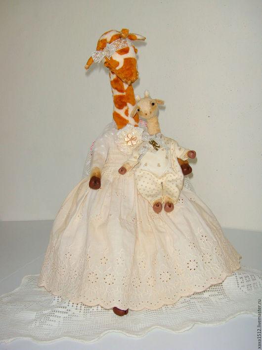 Мишки Тедди ручной работы. Ярмарка Мастеров - ручная работа. Купить Тедди-жирафа с малышом (купить жирафа-тедди) друзья тедди. Handmade.