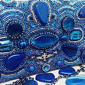 """Сумки и аксессуары ручной работы. Ярмарка Мастеров - ручная работа Клатч """"Синие ночи"""". Handmade."""