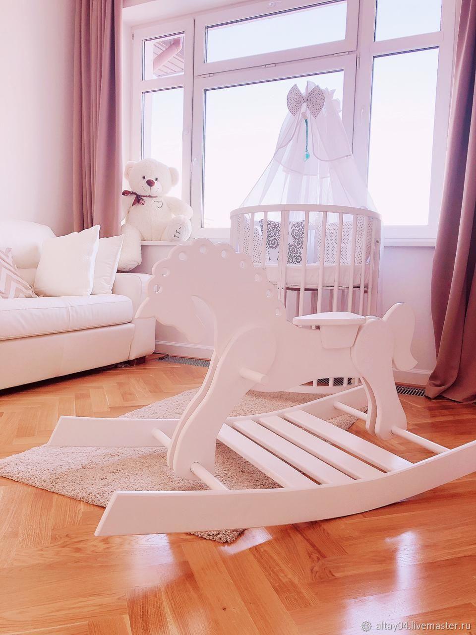 Nursery handmade. Livemaster - handmade. Buy Horse rocking chair solid cedar Christmas.Gift, for girls, white interior