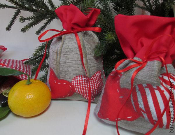 Большой мешок для подарков своими руками