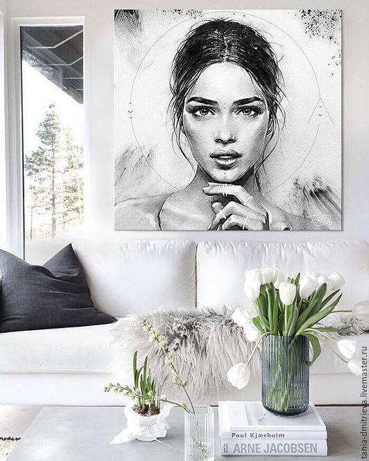 интерьер, оформление интерьера, портрет по фото, портрет в подарок, портрет на заказ, картина в подарок, оформление стен, интерьер, дизайн интерьера, подарок женщине, подарок на годовщину, love story