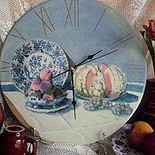 """Для дома и интерьера ручной работы. Ярмарка Мастеров - ручная работа Клод Моне """"Натюрморт с дыней"""" , часы - репродукция. Handmade."""