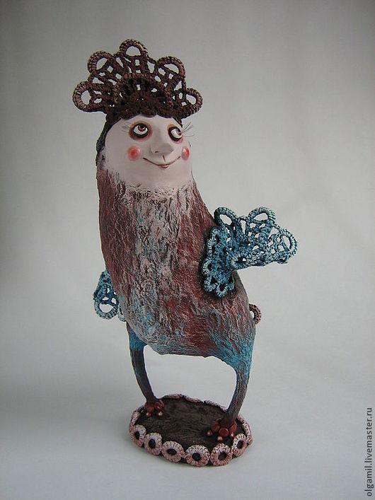 Куклы и игрушки ручной работы. Ярмарка Мастеров - ручная работа. Купить Птица Сирин. Handmade. Рыжий, птица счастья, акрил