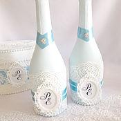 Свадебный салон handmade. Livemaster - original item Wedding bottle. Handmade.
