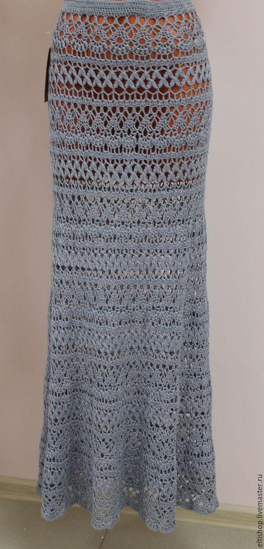 Юбки ручной работы. Ярмарка Мастеров - ручная работа. Купить юбка вязанная. Handmade. Серый, юбка в пол, юбка вязаная