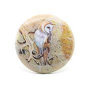 Сувениры и подарки ручной работы. Ярмарка Мастеров - ручная работа Сипуха на крейзи агате. Handmade.