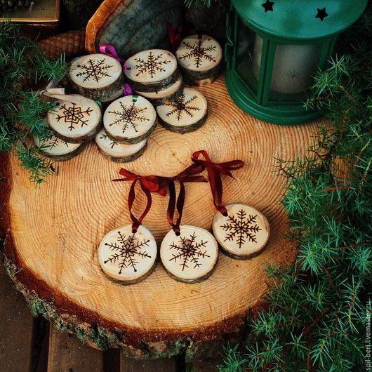 Персональные подарки ручной работы. Ярмарка Мастеров - ручная работа. Купить Новогоднее  украшение- возможно нанесение логопита. Handmade. Комбинированный