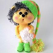 Мягкие игрушки ручной работы. Ярмарка Мастеров - ручная работа Вязаная игрушка Ёжик. Handmade.