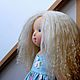 Вальдорфская игрушка ручной работы. Ярмарка Мастеров - ручная работа. Купить Синеглазка, 40 см. Handmade. Разноцветный, мохер