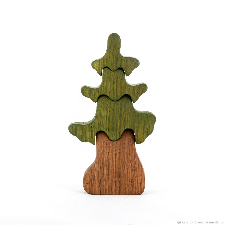 Дерево ЕЛЬ. Деревянная развивающая игрушка. Пазл, Пазлы головоломки, Смоленск,  Фото №1