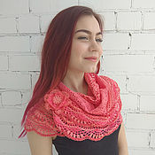 Аксессуары handmade. Livemaster - original item Scarf Snood design made of cotton ( coral). Handmade.