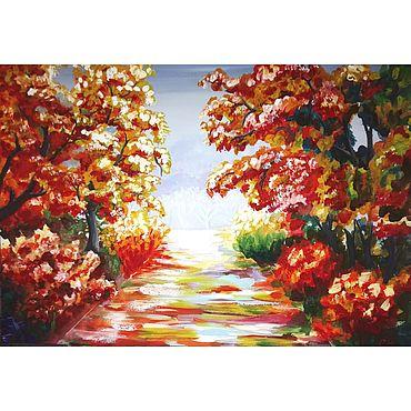 """Картины и панно ручной работы. Ярмарка Мастеров - ручная работа Картина гуашью: """"Осень золотая"""". Handmade."""