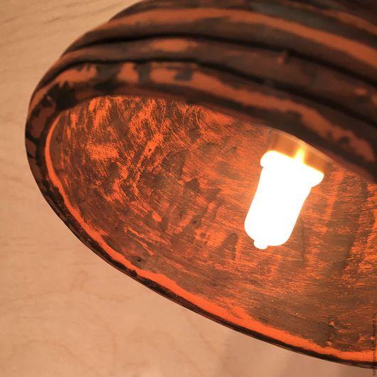 Освещение ручной работы. Ярмарка Мастеров - ручная работа. Купить Керамический светильник на стену «Спиральная фантазия №1». Handmade.