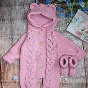 Работы для детей, handmade. Livemaster - original item Newborn gift. Knitted Romper.. Handmade.