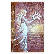 Картины и панно handmade. Livemaster - original item Girl with a Lotus-decorative painting