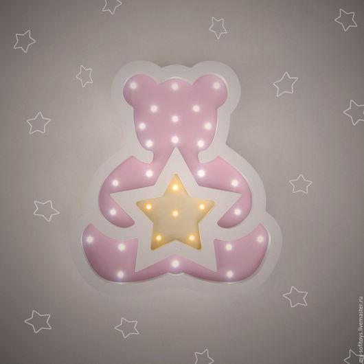Ночник Мишка со звездой