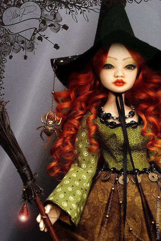"""Коллекционные куклы ручной работы. Ярмарка Мастеров - ручная работа. Купить Шарнирная кукла """"Ядвига"""". Handmade. Рыжий, кукла в подарок"""