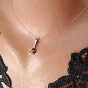 Украшения handmade. Livemaster - original item Amber Flower Pendant 925 Silver. Handmade.