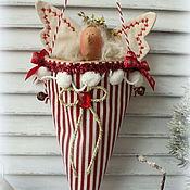Подарки к праздникам ручной работы. Ярмарка Мастеров - ручная работа Рождественские кульки для подарков и сладостей. Handmade.