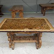 Для дома и интерьера ручной работы. Ярмарка Мастеров - ручная работа стол со спилами-2. Handmade.