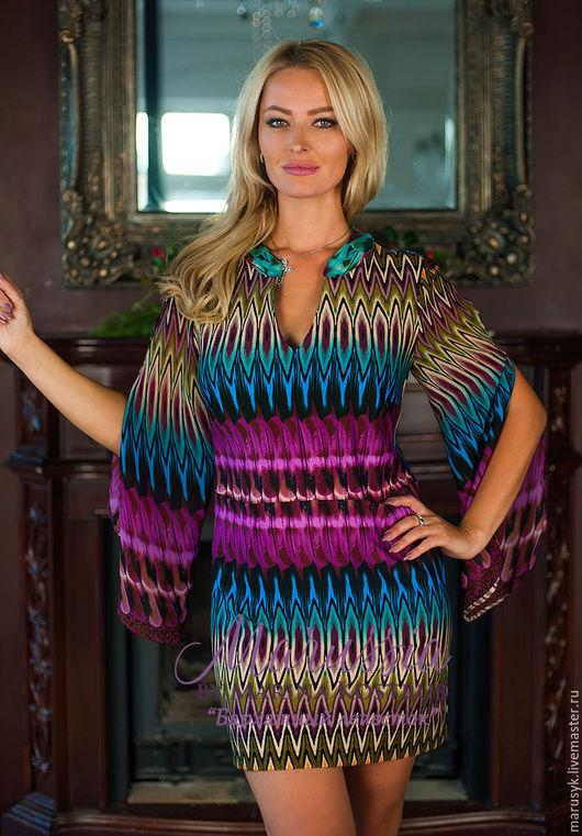 Платья ручной работы. Ярмарка Мастеров - ручная работа. Купить Платье БЛ-73-миссони. Handmade. Комбинированный, Платье нарядное