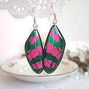 Украшения handmade. Livemaster - original item Transparent Earrings Butterfly Wings Rainbow Range For Choice. Handmade.