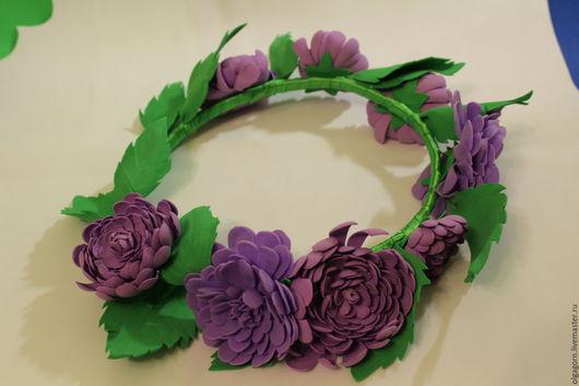 """Диадемы, обручи ручной работы. Ярмарка Мастеров - ручная работа. Купить Венок """" Виолетта """". Handmade. Венок из цветов"""