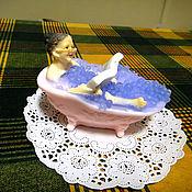 """Косметика ручной работы. Ярмарка Мастеров - ручная работа Мыло """"Бабушка в ванне"""". Handmade."""
