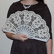 Аксессуары handmade. Livemaster - original item Fan MADAME Vologda Vyatka lace. Handmade.