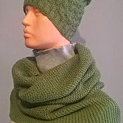 Одежда handmade. Livemaster - original item Snood-cowl-shawl with Hat. Handmade.