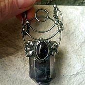 Украшения handmade. Livemaster - original item Pendant with fluorite and amethyst (p-016). Handmade.