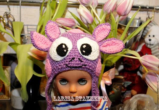 Шапки и шарфы ручной работы. Ярмарка Мастеров - ручная работа. Купить шапка лунтик. Handmade. Комбинированный, хлопок