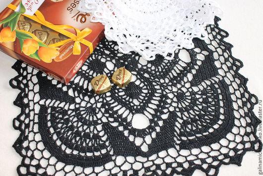Текстиль, ковры ручной работы. Ярмарка Мастеров - ручная работа. Купить Салфетка № 166 (комплект). Handmade. Черный