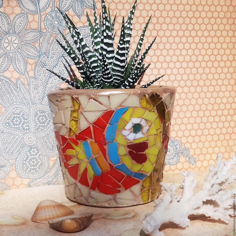 Вазы ручной работы. Ярмарка Мастеров - ручная работа. Купить Кашпо  с красной рыбкой. Handmade. Рыба, кашпо для цветов