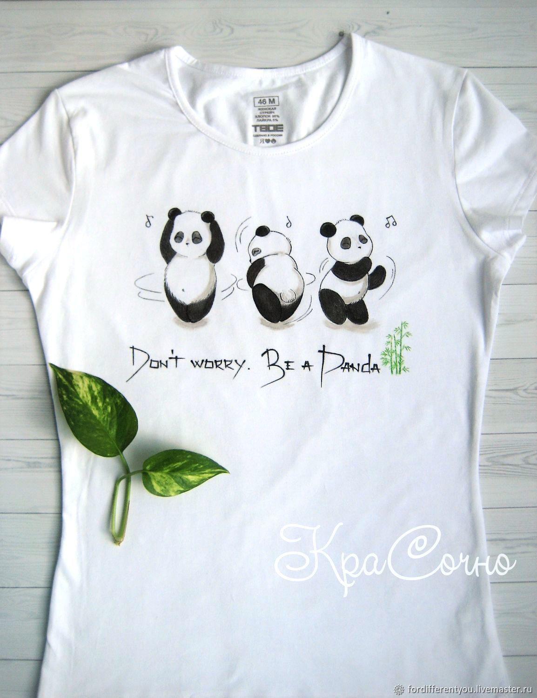 T-shirt,t-shirt painting,Panda,funny picture, T-shirts, Krasnodar,  Фото №1