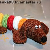 Куклы и игрушки ручной работы. Ярмарка Мастеров - ручная работа Разноцветный пёс.. Handmade.