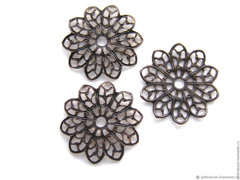 Filigree Flower Vintaj, Accessories for jewelry, Tyumen,  Фото №1
